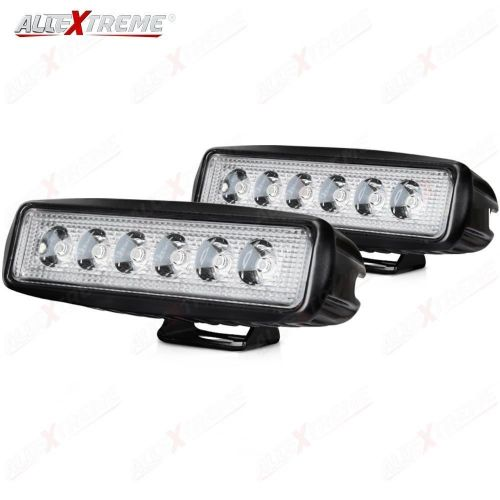 966db04316a AllExtreme 6 LED Fog Light Bar for Motorcycle Car Off Road SUV ATV Jeep  Truck Bright Spot Flood Waterproof Driving 6 Inch Fog Lamp with Mounting  Bracket ...