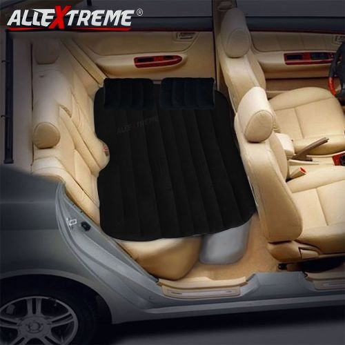 Allextreme Multifunctional Inflatable Car Mattress Black