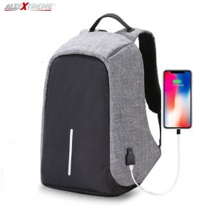 AllExtreme EXATBG1 Anti Theft Laptop Bag 14 Inch Water Resistant Office Backpack with USB Charging Port (Grey)