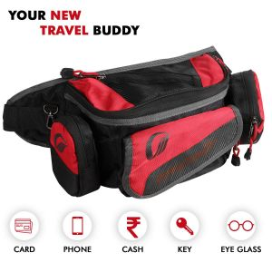 EXWBRB1 Multi Pocket Travel Waist Bag