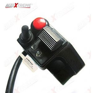 AllExtreme EXUMCHS Universal Motorcycle Handlebar Switch Control 7/8 inch Horn Turn Signal Light Start Control on off Push Button Compatible with Motorcycle Sport Dirt Electric Bike, ATV, UTV (Black, 1 Pc)