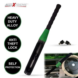 AllExtreme EXCSBLR Heavy Duty Car Steering Wheel Lock Anti-Theft Baseball Security Self Protection Lock with Keys (Random Colour)