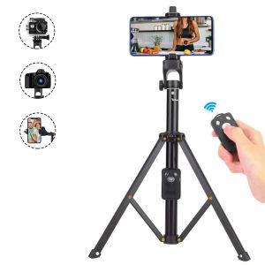 AllExtreme 2 in 1 Portable Mini Mobile Selfie Stick with Bluetooth Remote Controller Smartphone DSLR Action Camera Tripod with Carry Case