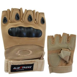 AllExtreme Half Finger Bike Gloves - Bike and Cycling Riding Gloves - No 1 Choice for Harley-Davidson and Enfield Riders Designed and Developed as Per European Riding Standards