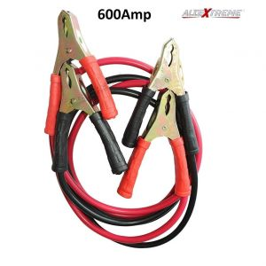 AllExtreme Car Auto Battery Booster 2.21 Meter Jumper Cable Battery Storage Wire Clamp with Alligator Wire Clamp to Start Dead Battery Emergency Line Truck Off Road Auto Car Jumper Cables (600 Amp)