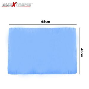 AllExtreme EXFLD06 Machine Washable Synthetic Chamois Cloth Car Wash Drying Towel Cleaner for Cars, Auto and SUV (Blue, 1 PC)