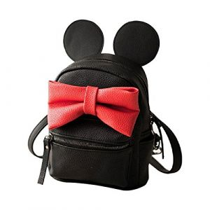 AllExtreme Women Girls PU Leather Mini Shoulder Backpack Bag with Bow for School, Casual, Travel and Professional Outdoor Style