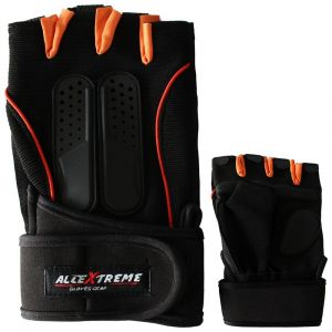 Allextreme Multipurpose GYM and Bike Wrist Half Finger Gloves for Fitness Weightlifting Exercise Sport Cycling