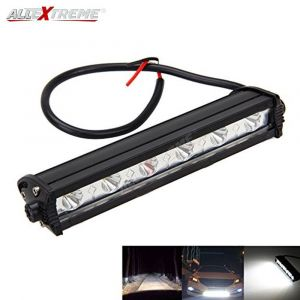 AllExtreme EX7I61P 6 Led Fog Light Bar 7 Inch Driving Spotlight Working Lamp for Bikes SUV ATV Car 4Wd Jeep and Cars (18W, White, 1 PC)