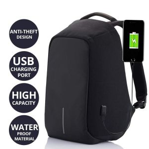 AllExtreme 2nd Generation Anti Theft Backpack Water Resistant Oxford Fabric 15 Liters Black Office Laptop Bag
