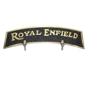 AllExtreme Brass Front Fender Plate Royal Enfield for Royal Enfield Bikes - Golden & Black