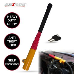 AllExtreme EXBBSLY Heavy Duty Baseball Bat Style Car Steering Wheel Lock Anti-Theft Security Self Protection Lock with Keys for All Cars, SUVs and Trucks