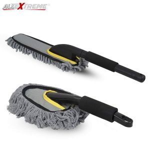 AllExtreme EX2FLD18 Multipurpose Scratch and Lint-Free Microfiber Car Cleaning Duster & Brush Vehicle Interior and Exterior Wash Cleaning Kit for Home & Automotive (2 PCS)