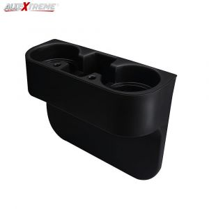 Allextreme EXCHRC1 Universal Car Double Cup Holder Portable Coffee Drink Storage Side Pocket Tray Console (Random colour)