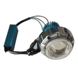 Dual Ring Projector LED Lamp (Red-Blue-Red) for All Bikes