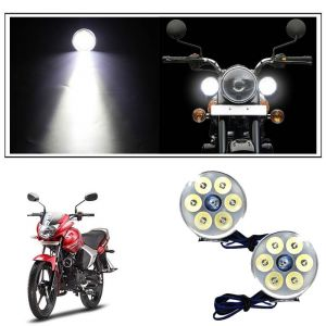 AllExtreme Mini 7 Led Round Fog Light Waterproof Off Road Driving Spot Light For Royal Enfield Bullet ATV SUV Truck Bikes Cars (21W, Pack Of 2)