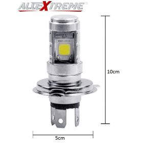 AllExtreme H4 HJG High Brightness Cob LED Headlight Bulb For Bikes, Cars, ATV, SUV (9W, 900LM, Pack of 1)