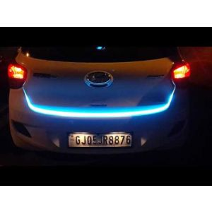 CAR Tailgate LED Strip Light, Car Rear Tail Lights Streamer Brake Turn Signal LED Lamp Strip Waterproof, Car LEDs Strips Braking light free switch - Red and Blue Color