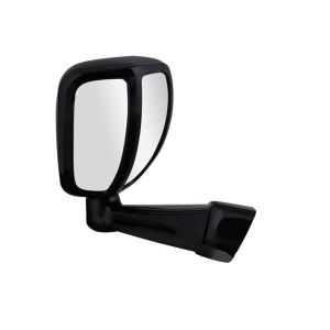 AllExtreme EXWAMB1 Car Bonnet Fender Rear Side Mirror Wide Angle View for Toyota Fortuner and Innova (Black)