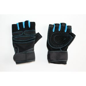 Shockproof & Breathable Half Finger Cycling Gloves - (L)(Blue)