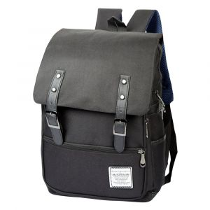 Vintage Style Canvas Laptop Backpack
